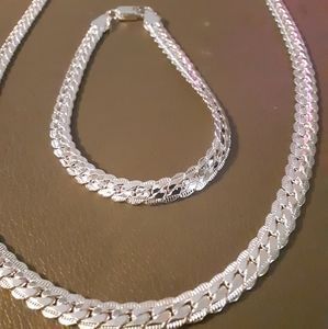 Jewelry - Sterling necklace and bracelet set